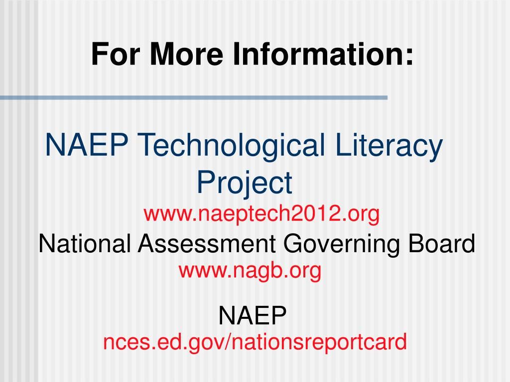 NAEP Technological Literacy Project