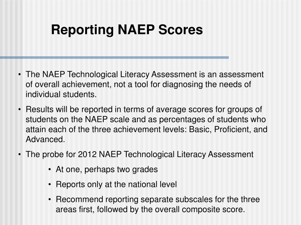 Reporting NAEP Scores