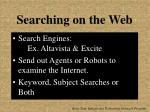 searching on the web