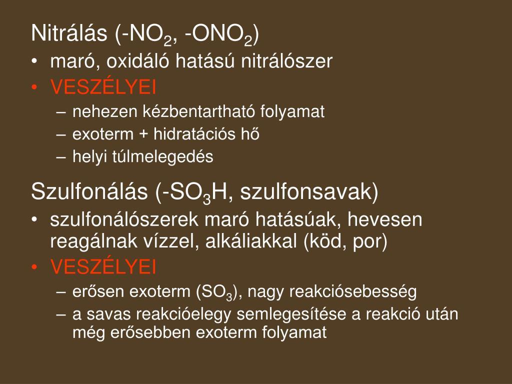 Nitrálás (-NO