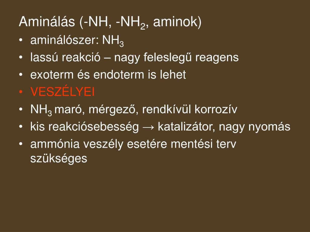 Aminálás (-NH, -NH