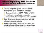 issues impacting web services for the global business market