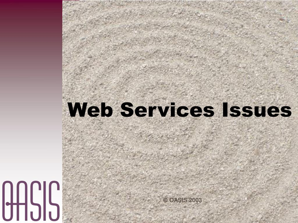 Web Services Issues