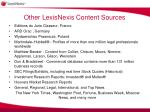 other lexisnexis content sources