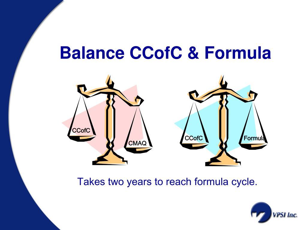 Balance CCofC & Formula