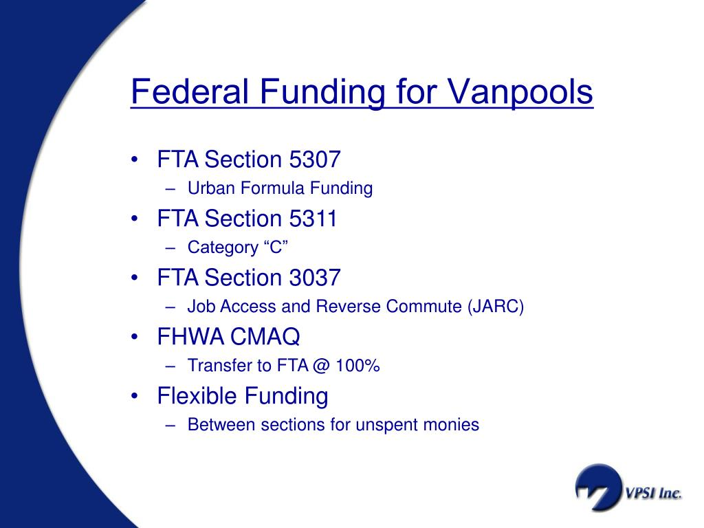 Federal Funding for Vanpools