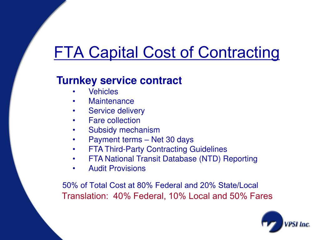 FTA Capital Cost of Contracting