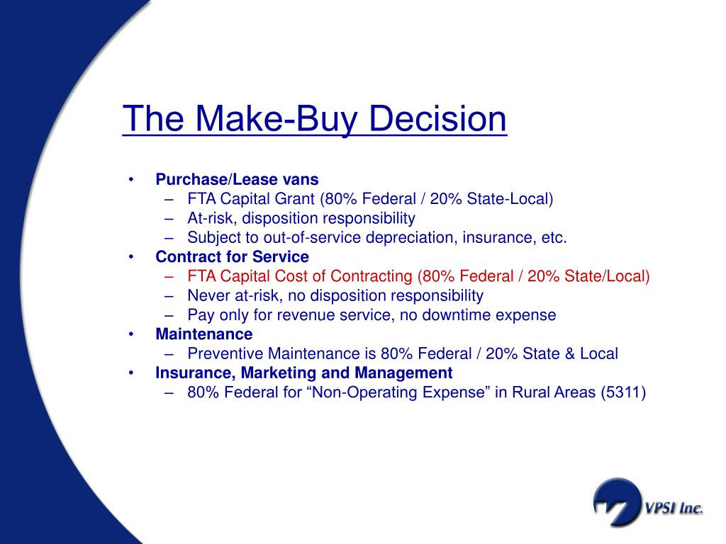 The Make-Buy Decision