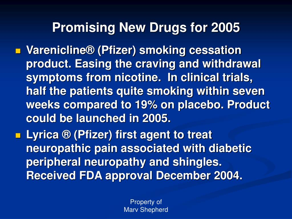 Promising New Drugs for 2005
