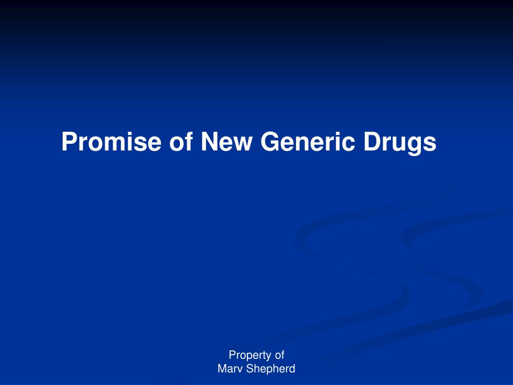 Promise of New Generic Drugs