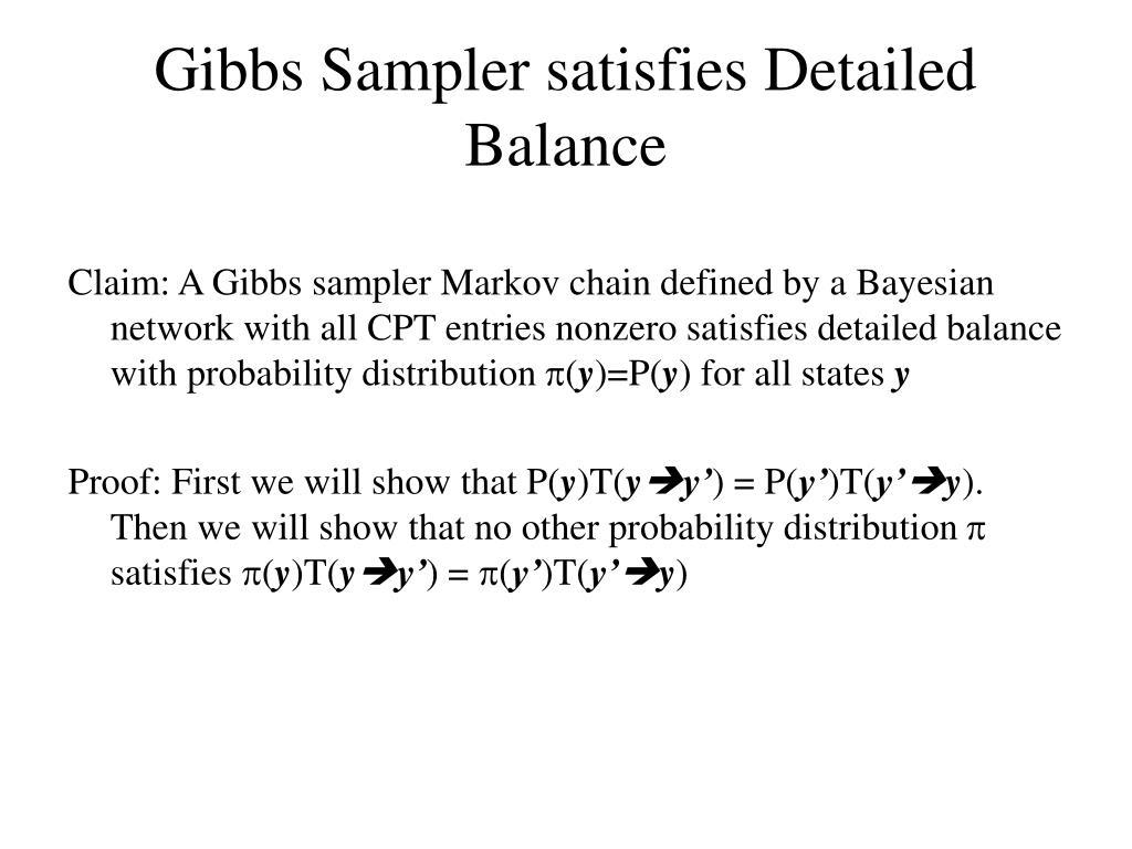 Gibbs Sampler satisfies Detailed Balance