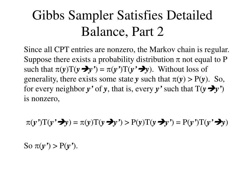 Gibbs Sampler Satisfies Detailed Balance, Part 2