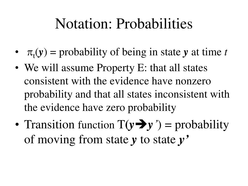 Notation: Probabilities