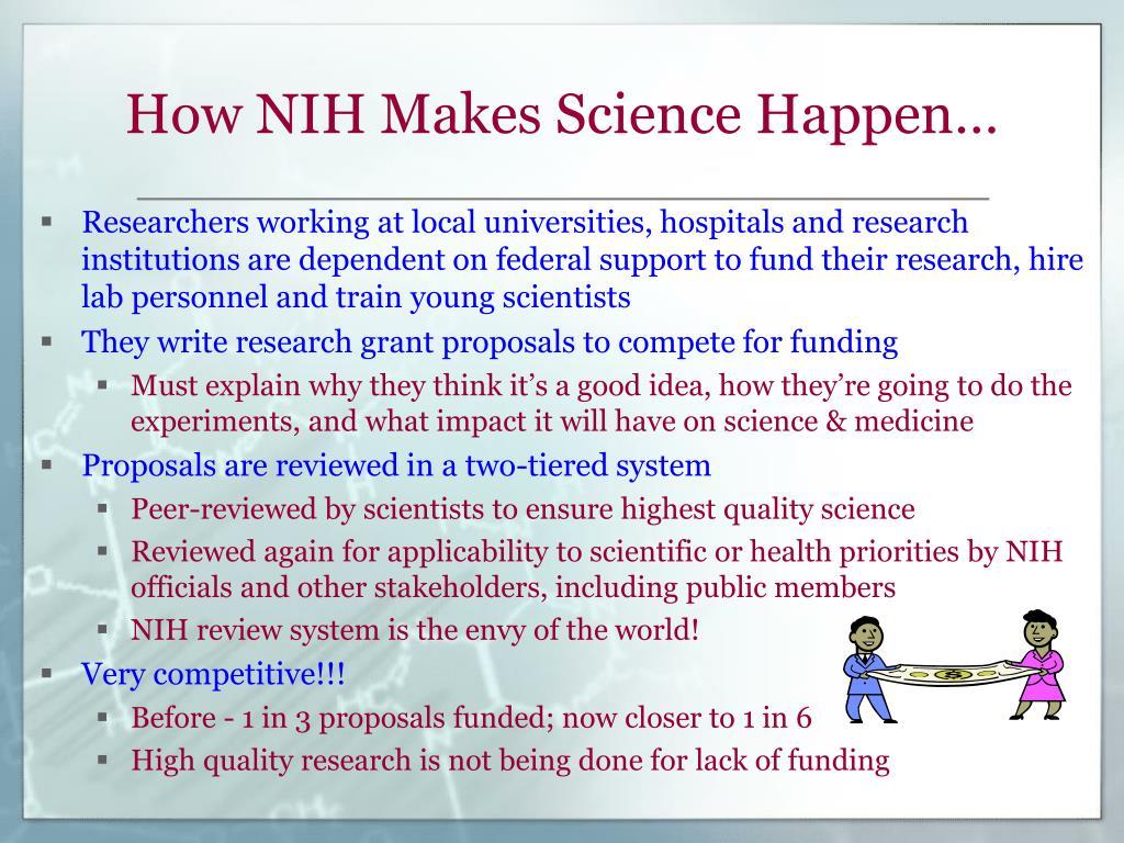 How NIH Makes Science Happen…
