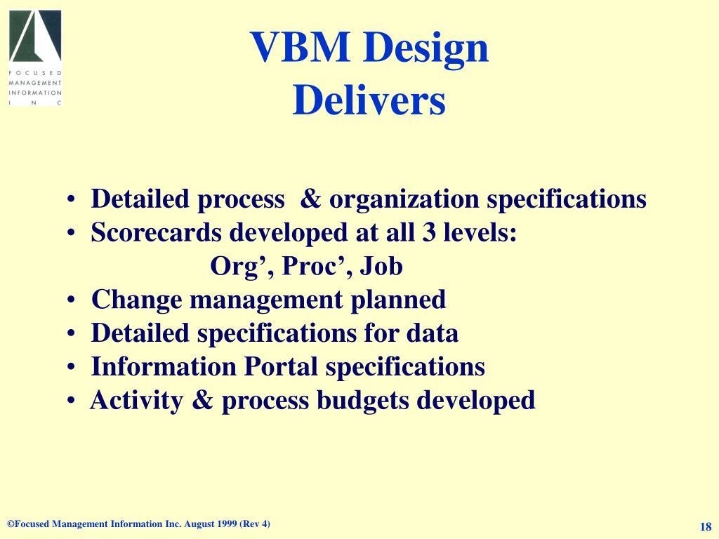 VBM Design