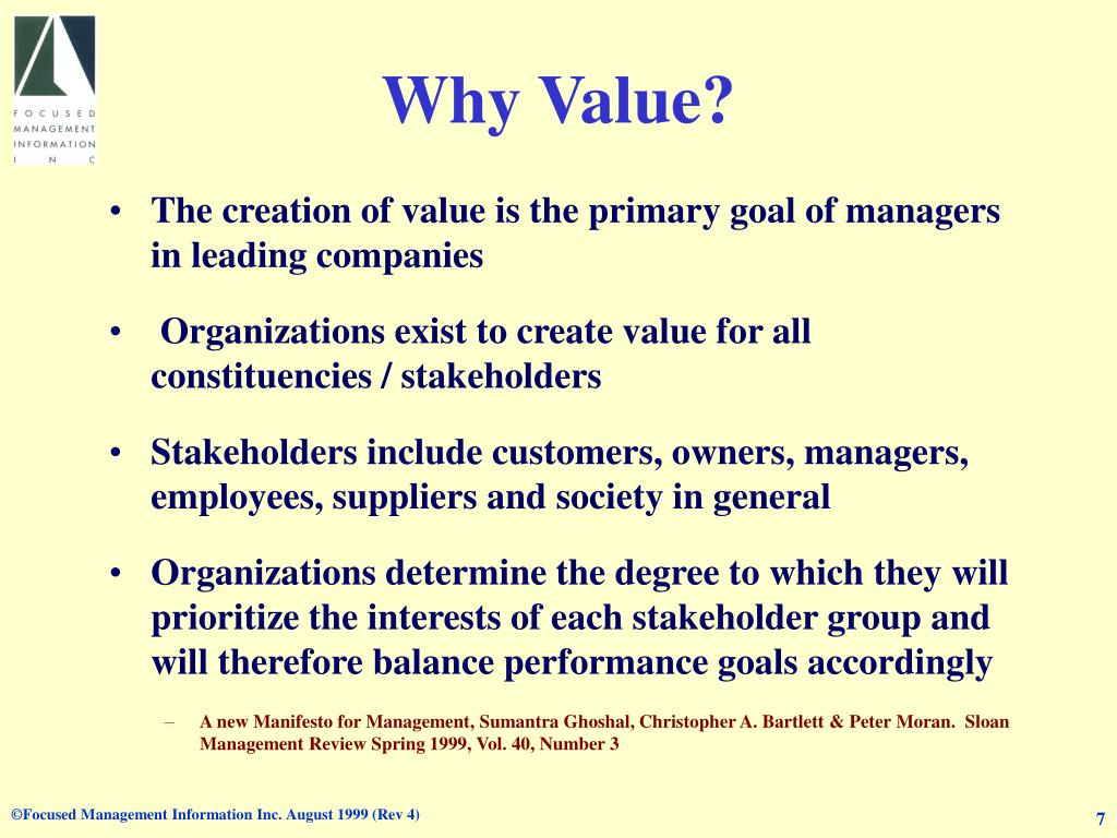 Why Value?