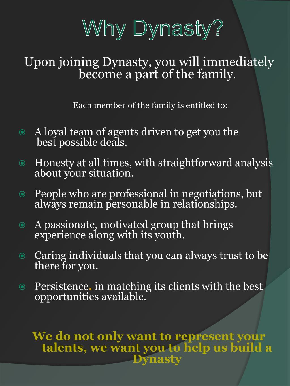 Why Dynasty?