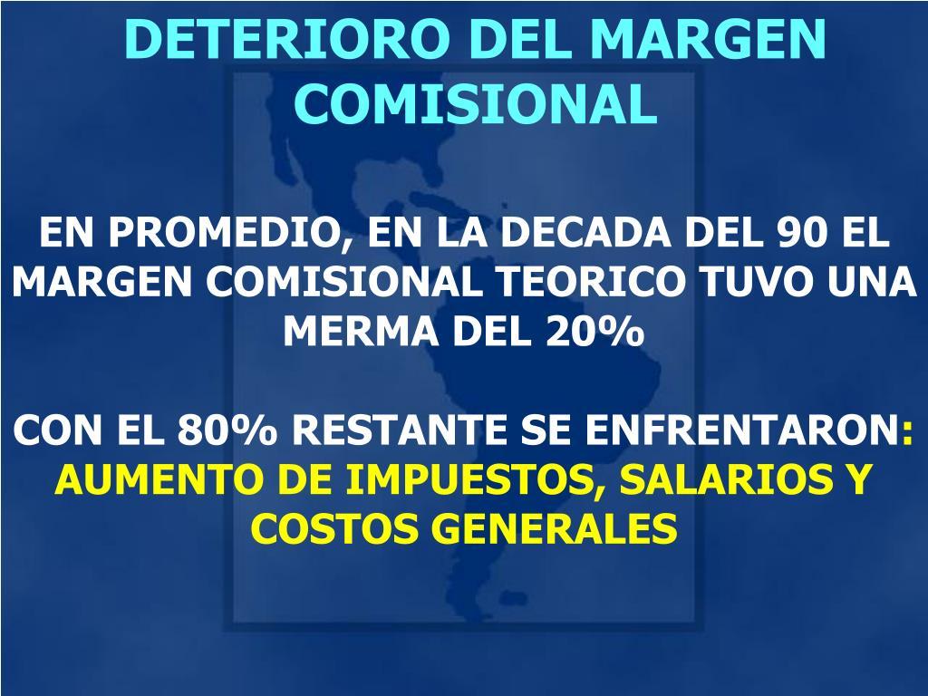DETERIORO DEL MARGEN