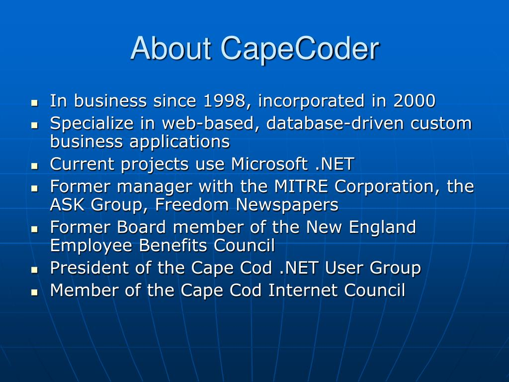 About CapeCoder