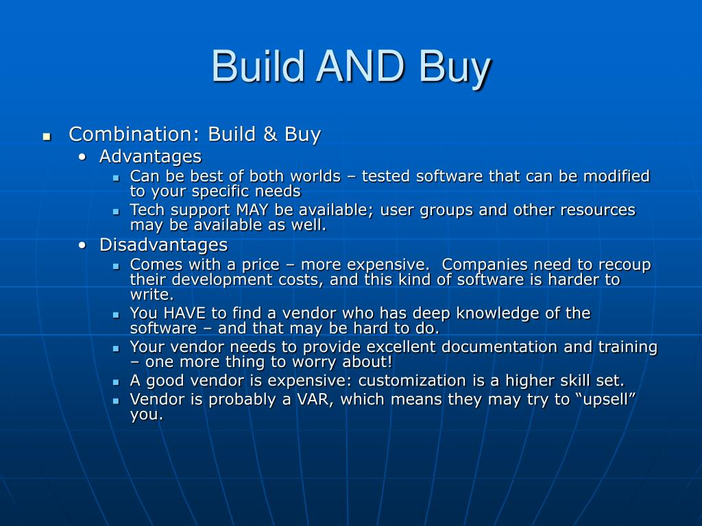 Build AND Buy