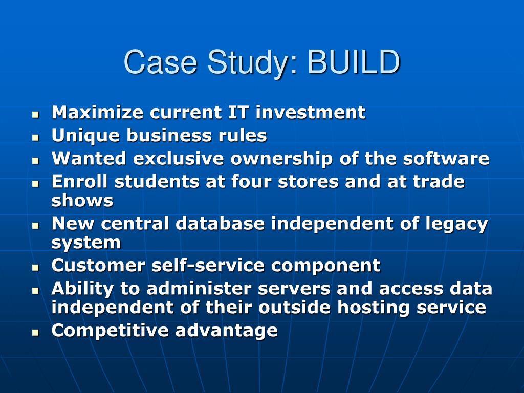 Case Study: BUILD