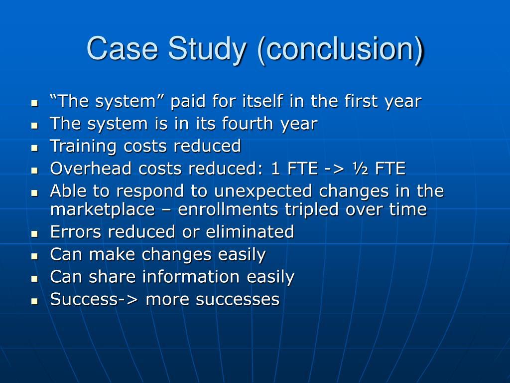 Case Study (conclusion)