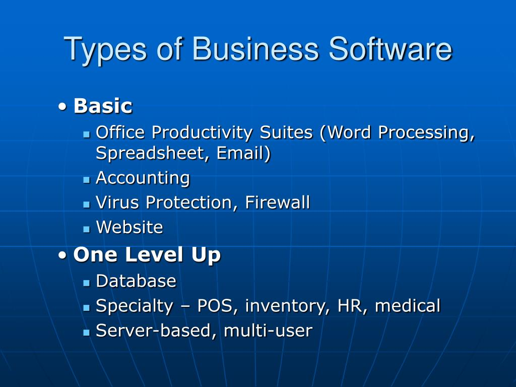 Types of Business Software