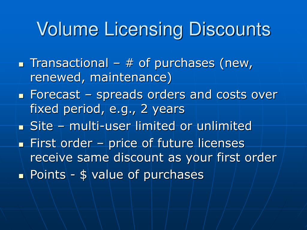 Volume Licensing Discounts