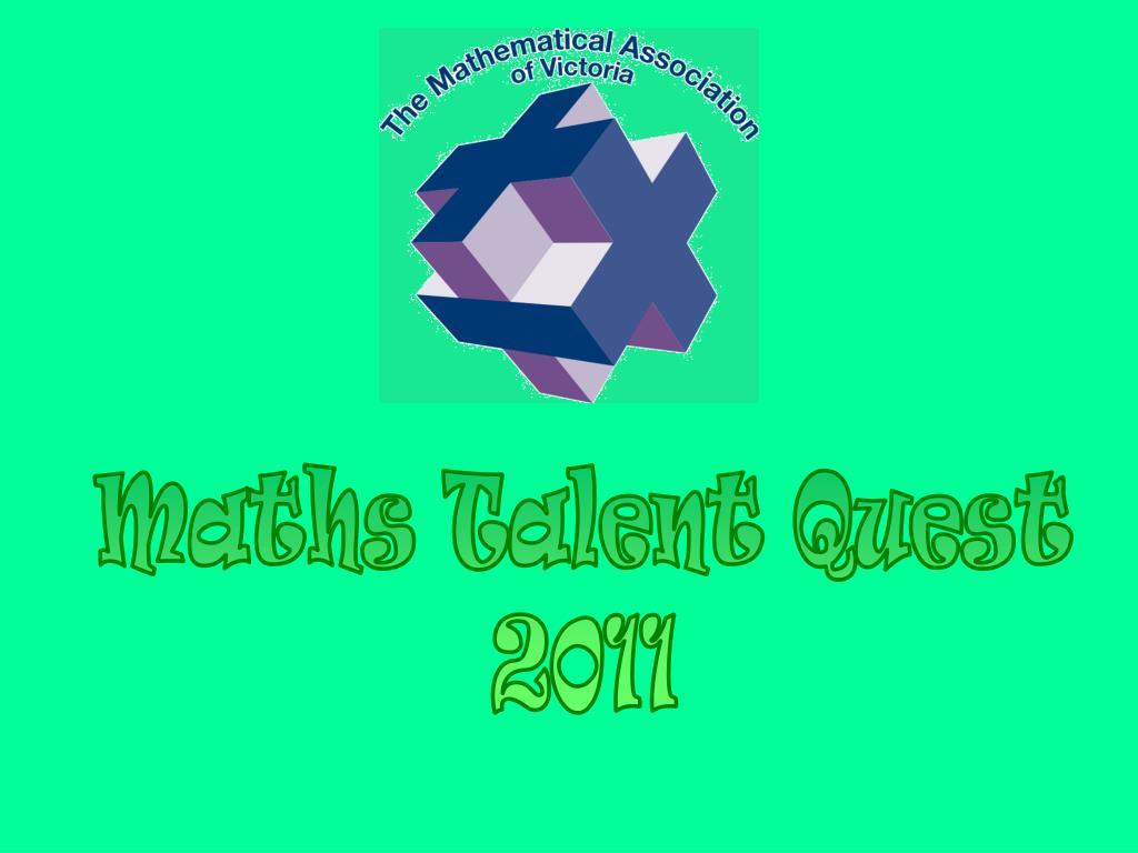 Maths Talent Quest