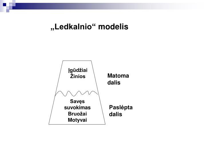 """Ledkalnio"" modelis"