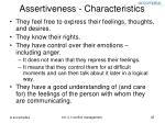 assertiveness characteristics