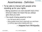 assertiveness definition