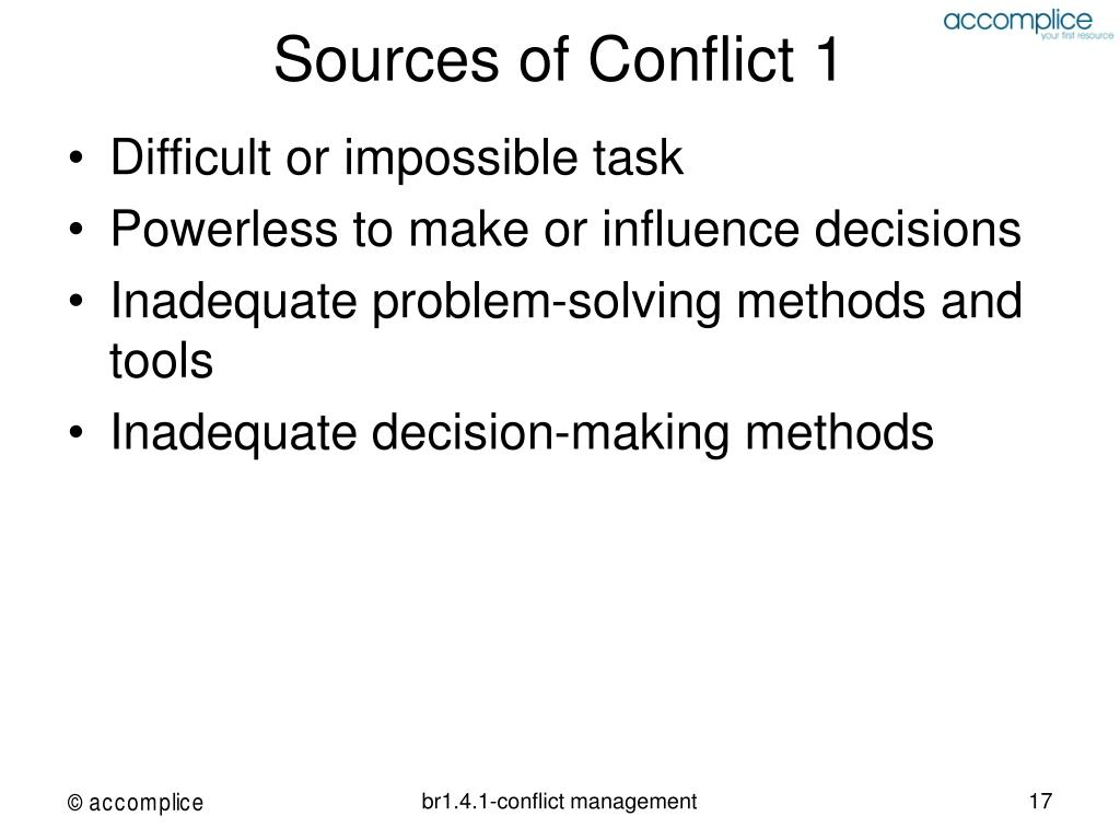 Sources of Conflict 1