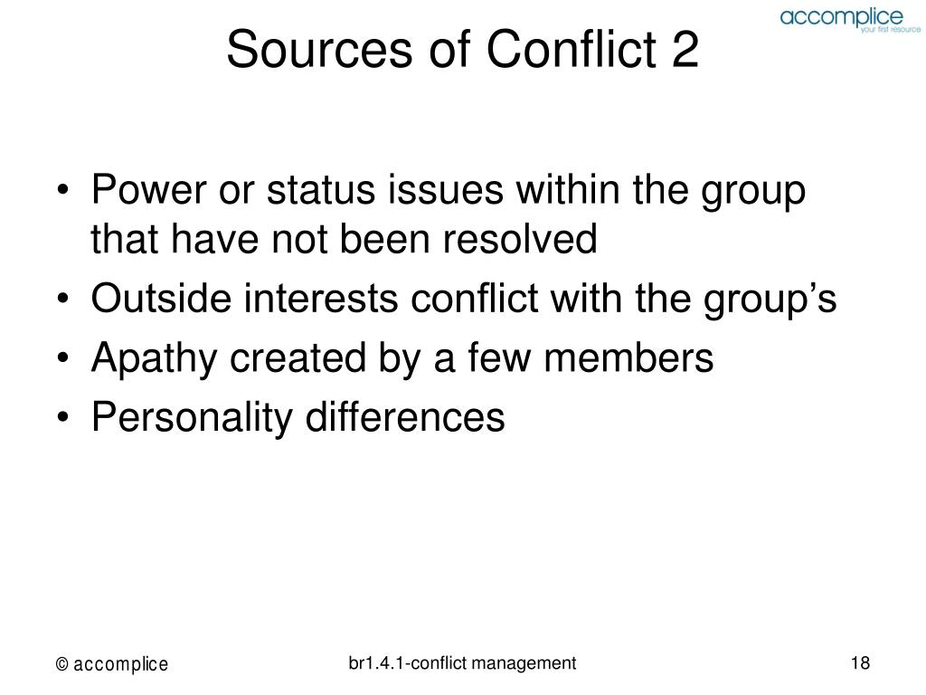 Sources of Conflict 2