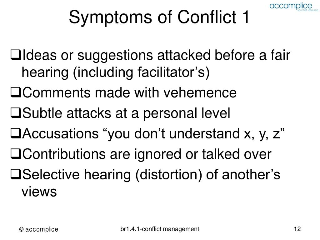 Symptoms of Conflict 1