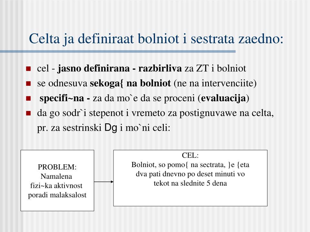 Celta ja definiraat bolniot i sestrata zaedno: