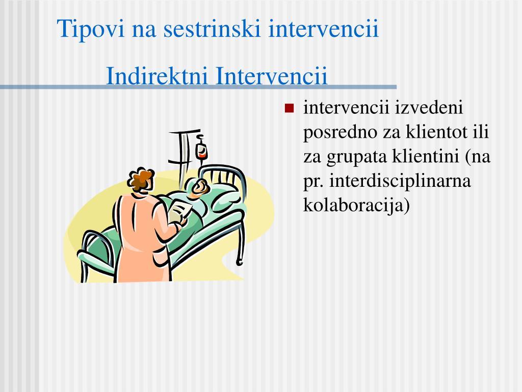 Tipovi na sestrinski intervencii