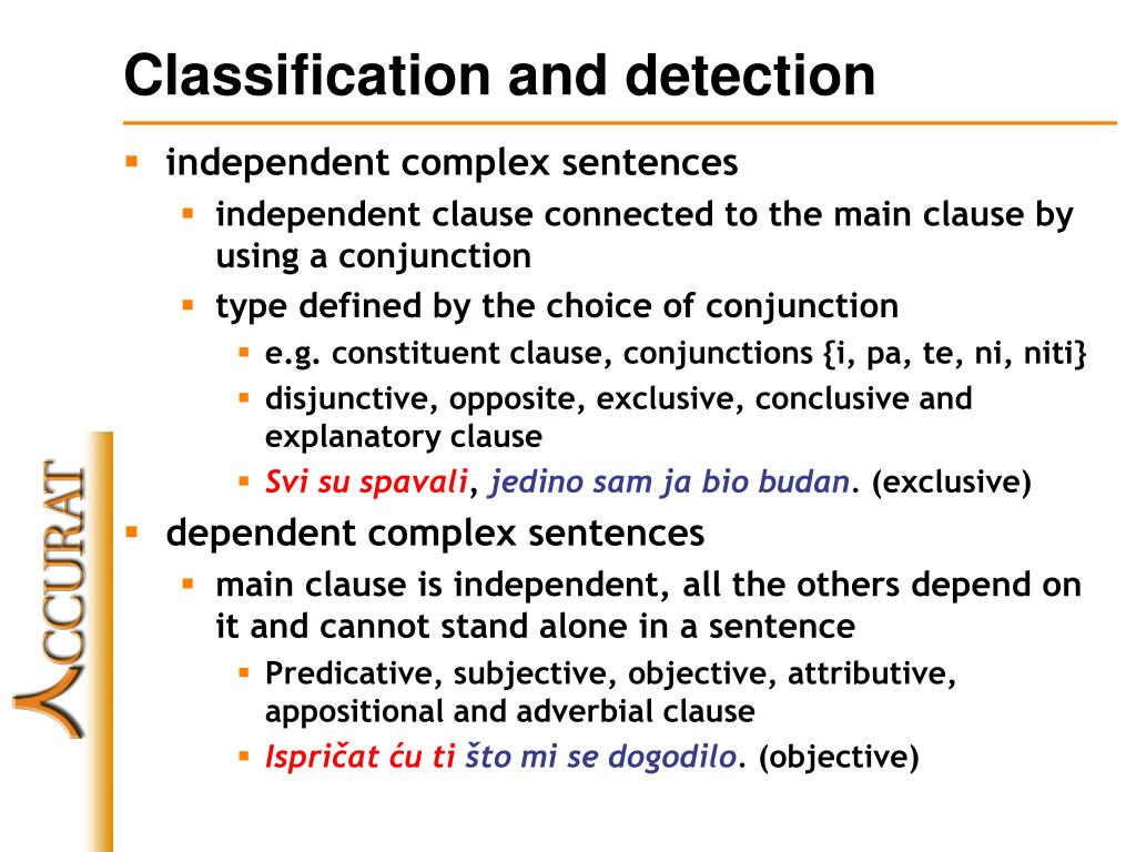 Classification and detection