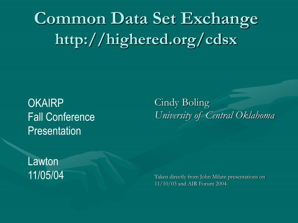 Common Data Set Exchange