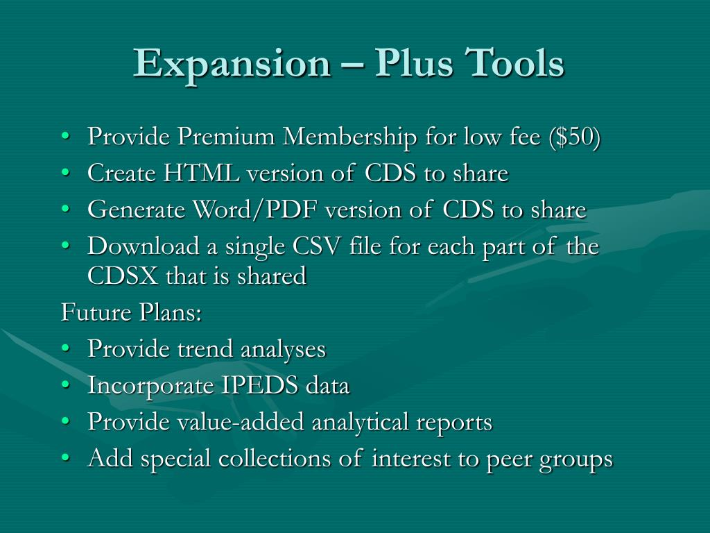 Expansion – Plus Tools