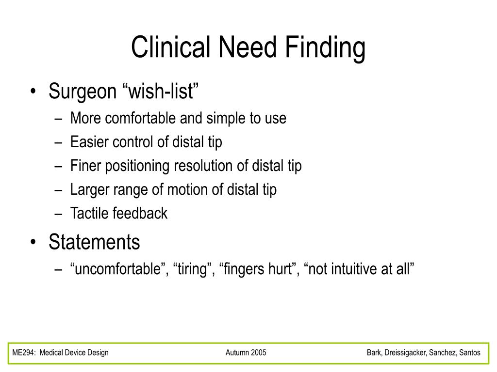 Clinical Need Finding