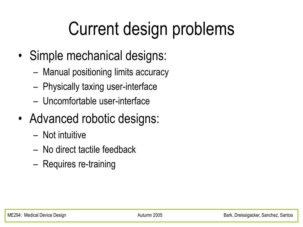 Current design problems