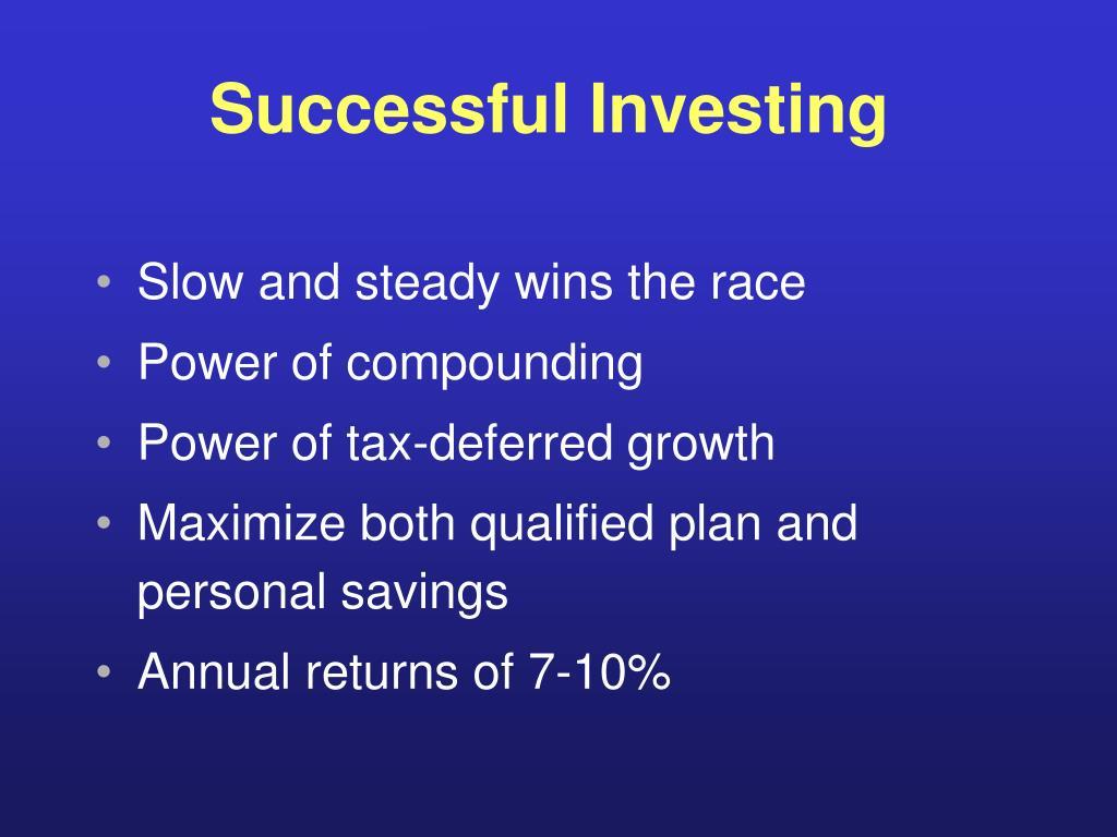 Successful Investing