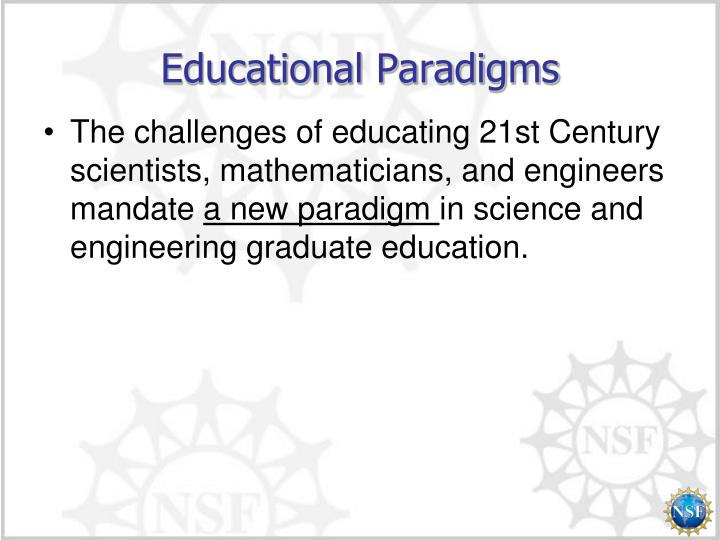 Educational paradigms