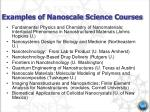 examples of nanoscale science courses