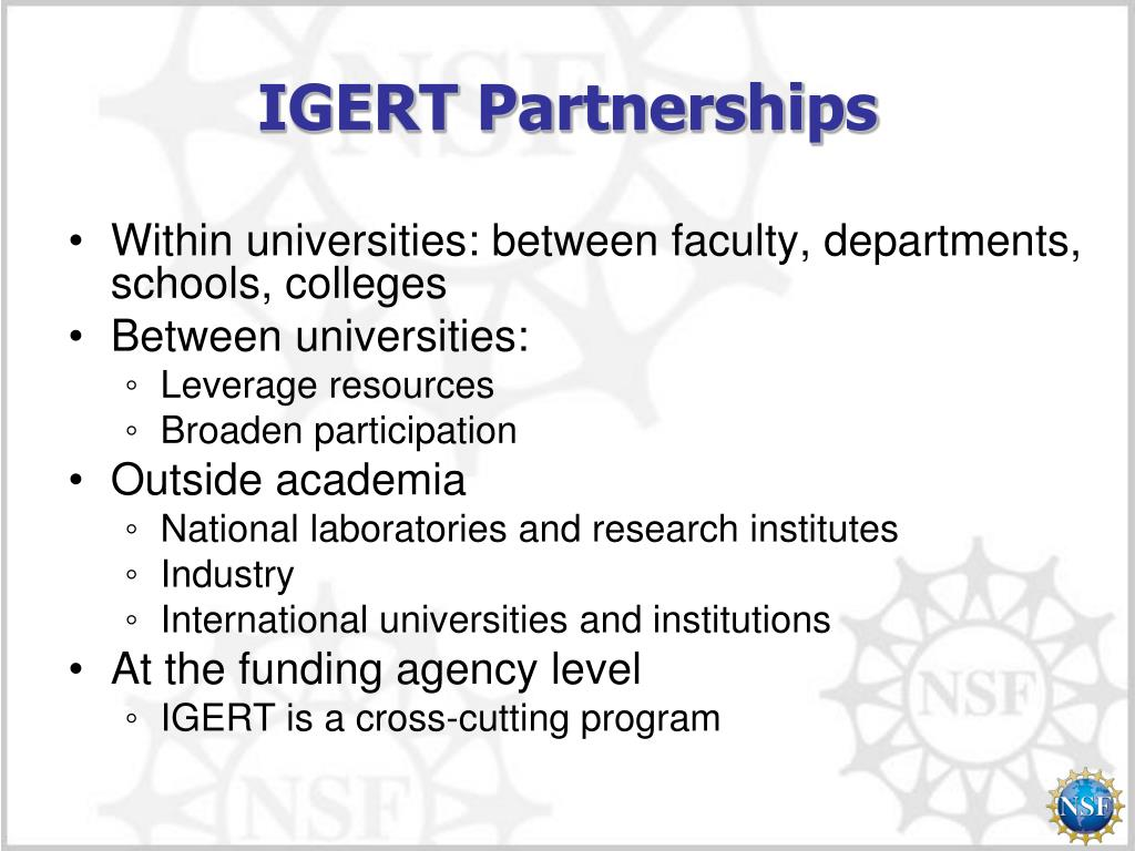 IGERT Partnerships