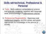 skills set technical professional personal5