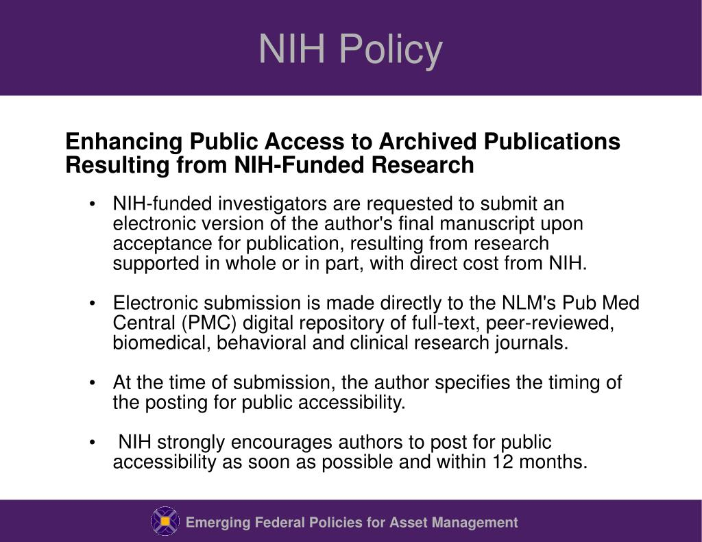 NIH Policy