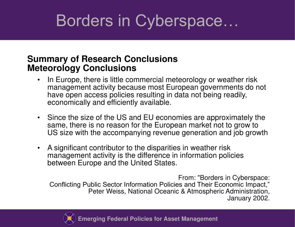 Borders in Cyberspace…