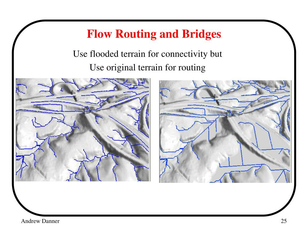 Flow Routing and Bridges